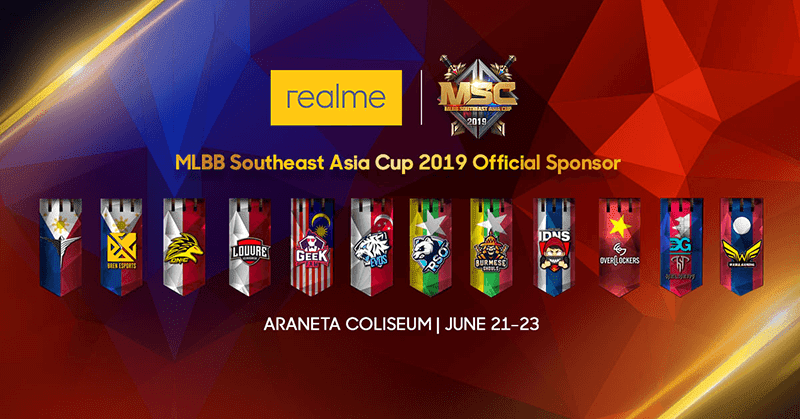 Realme is the official partner of the Mobile Legends Bang Bang Southeast Asia Cup 2019