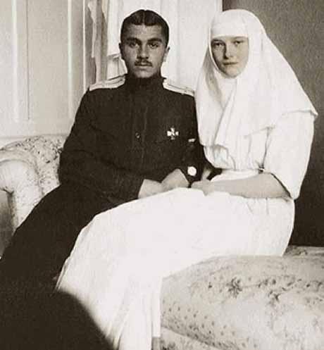 Tatiana com soldado Vladimir