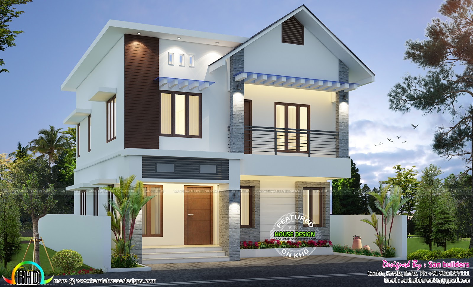 1431 sq ft cute home plan kerala home design and floor plans for Kerala house designs and floor plans 2016