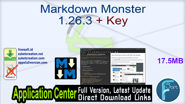 Markdown Monster 1.26.3 + Key