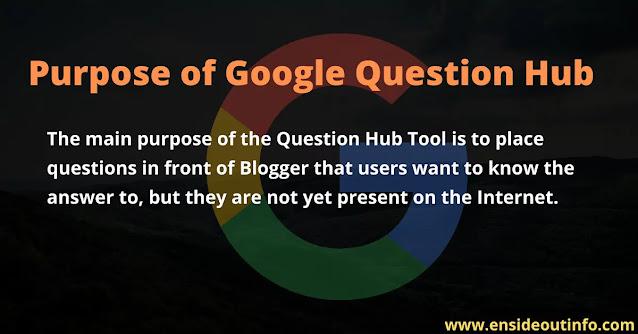 Purpose of Google Question Hub
