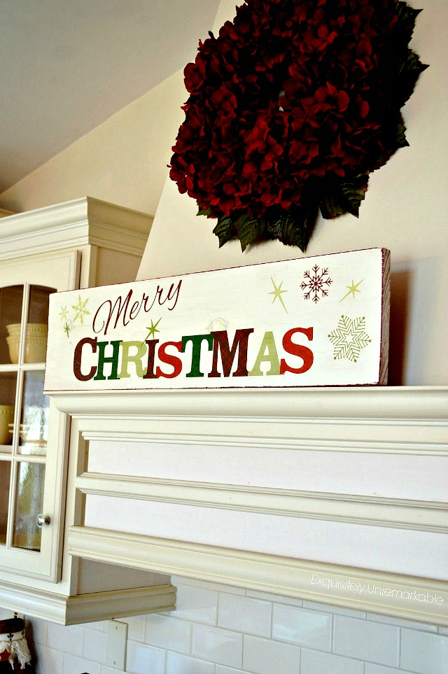 make an easy merry christmas wooden sign - Merry Christmas Wooden Sign