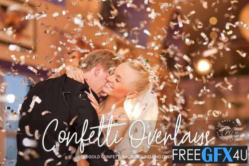Gold Confetti Overlays Pack