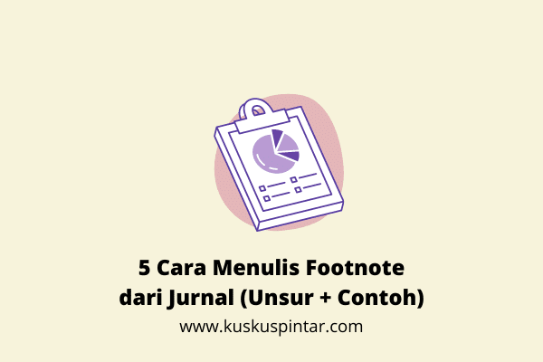Cara Menulis Footnote dari Jurnal