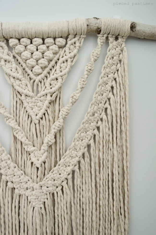 Perseverance Macramé Wall Hanging by Pieced Pastimes
