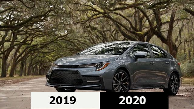الفرق بين تويوتا كورولا 2019 و 2020
