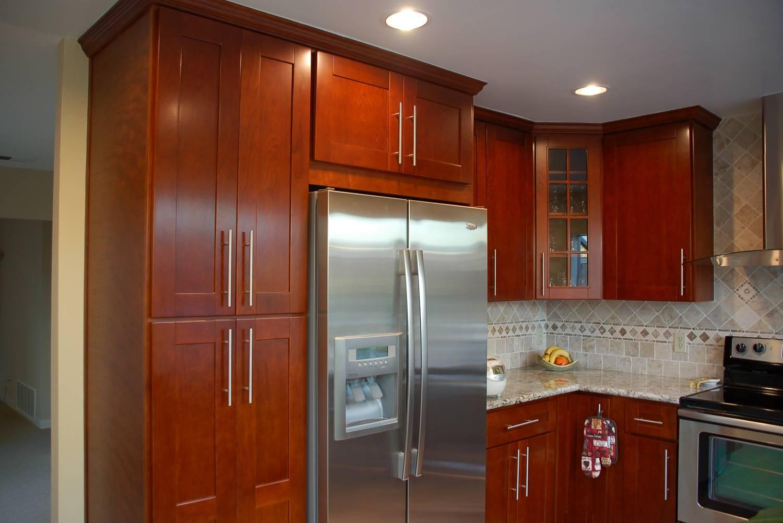 Walnut Vanity Cabinets Dark Cherry