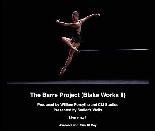 The Barre Project / William Forsythe, diffusion online sur le site de Sadlers wells
