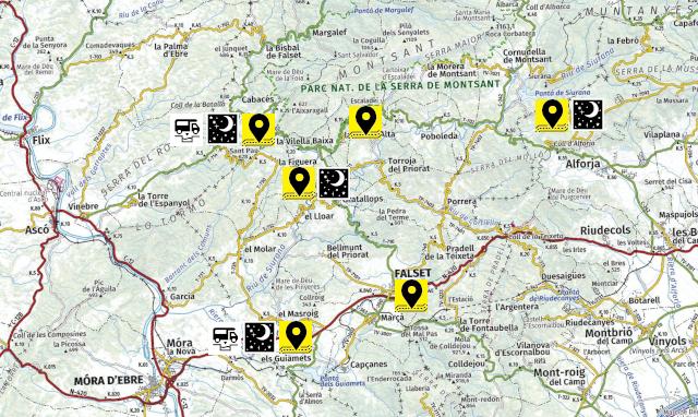 Mapa de l'escapada amb autocaravana