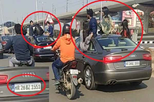 traffic-rule-broken-at-mathura-road-by-young-boys-and-girls-news