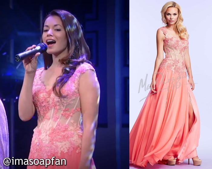 Sabrina Santiago, Teresa Castillo, Pink Floral Corset Dress, GH, Nurses Ball, General Hospital