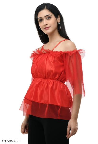 Womens Net Solid Top Online Shopping in India | Womens Top Online Shopping | Womens Top Online | Top For Women Online Shopping | Womens Tops Online Shopping | Womens Top | Womens Fashion | Online Shopping in India | Online Shopping | Best Indian Shopping Website |