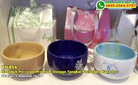 Mangkok Porcelain Premium Dengan Tangkai Packaging Paperbox