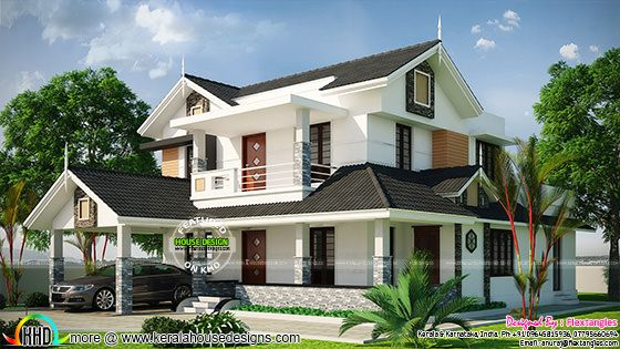 Beautiful sloping roof 2350 sq-ft home