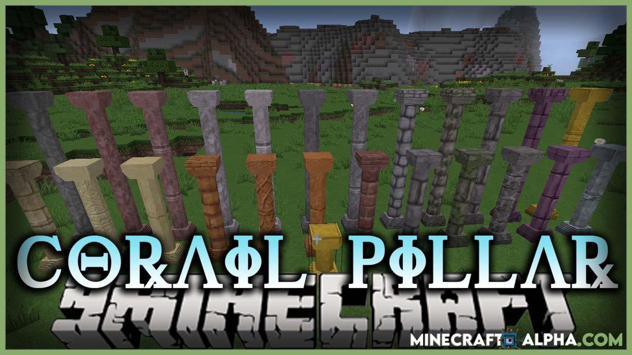 Minecraft Corail Pillar Mod 1.17.1 (New Style of Pillars)