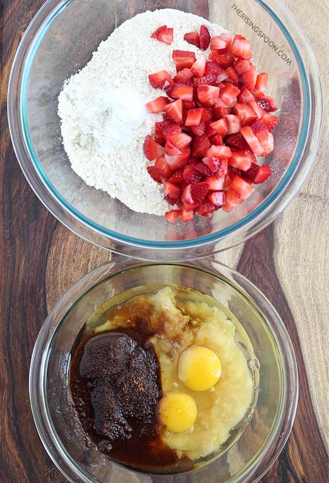 Ingredients For Easy Strawberry Banana Muffins Recipe