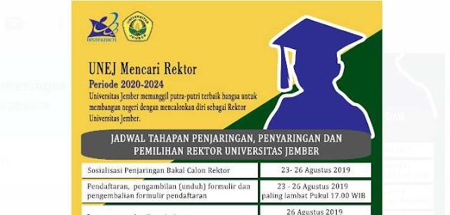Universitas Jember Mulai Menjaring Bakal Calon Rektor Periode 2020 - 2024