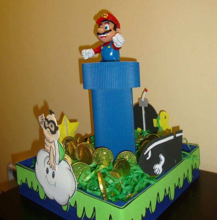 Fiestas Infantiles Centros De Mesa Mario Bros