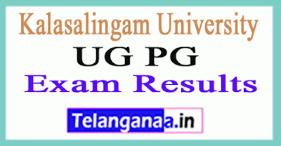Kalasalingam University UG PG Exam Results