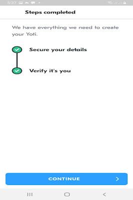 YOTI Application and Registration