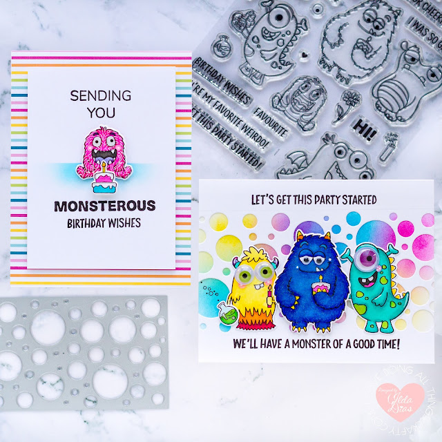 #tonicstudios, #tonicstudiosusa, #tonicstudiosstampclub, Little Monsters Bundle, Birthday, critters, Card Making, Stamping, Die Cutting, handmade card, ilovedoingallthingscrafty, Stamps, how to,