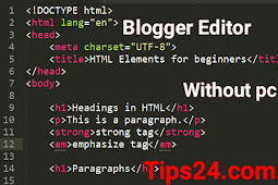 How To Design Your Blogger Blog Without Pc (Hausa)