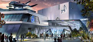 Avengers Disneyland Ride Concept Art Building