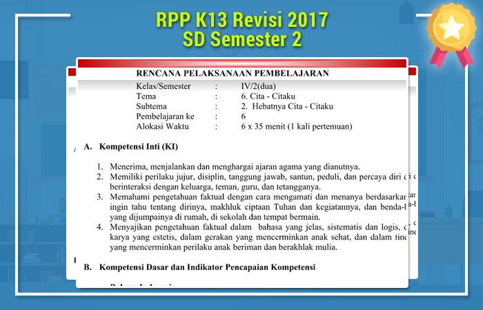 RPP K13 Revisi 2017 SD Semester 2