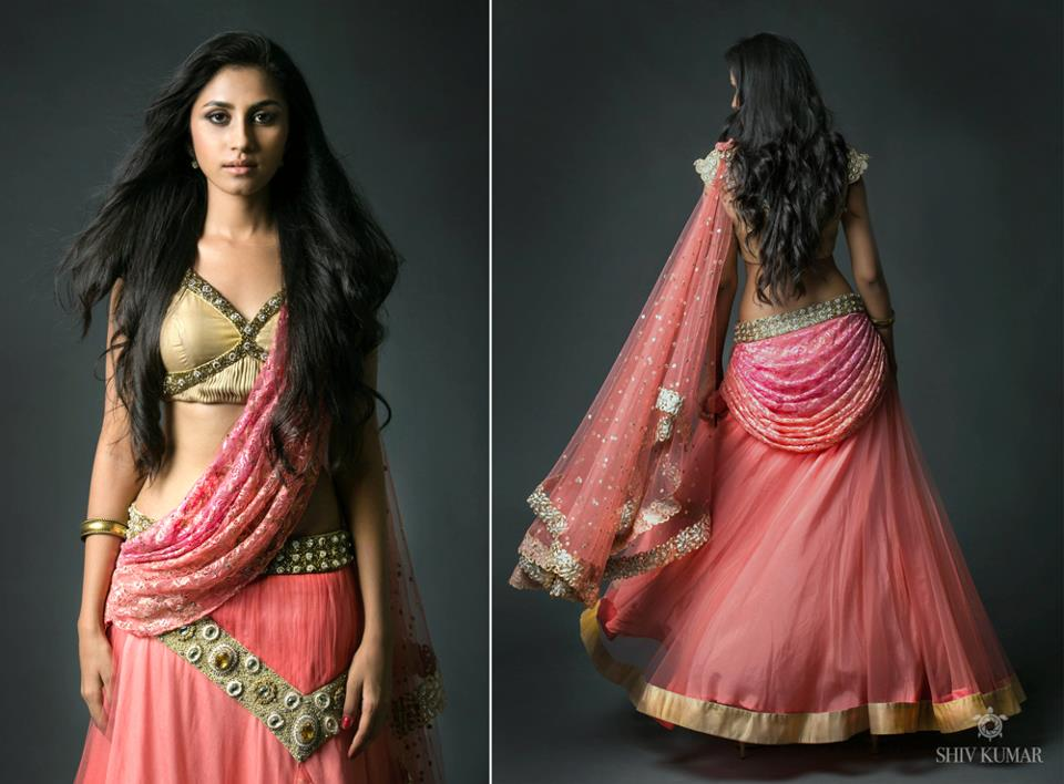 Indian Jewellery And Clothing One Of The Amazing Designers In Hyderabad Is Mrs Bhargavi Kunam She Presented Her Latest Designs Of Half Sarees By Name Parikini And Those Are Fantabulous Just Have A Look