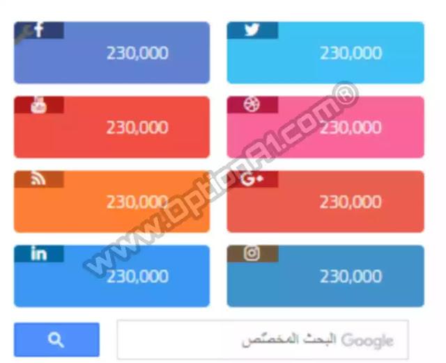 كيفية إضافة كود مواقع التواصل الاجتماعي html في سايد بار بلوجر
