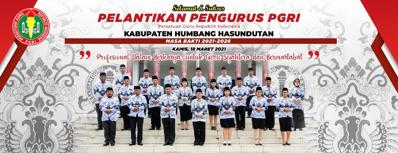 Pengurus PGRI (Persatuan Guru Republik Indonesia) Kabupaten Humbang Hasundutan Periode 2021-2026