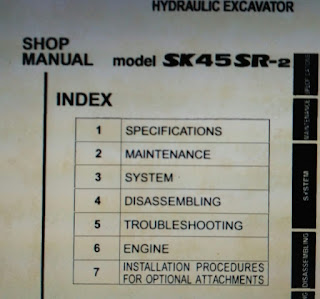 Kobelco sk45sr-2 excavator shop manual