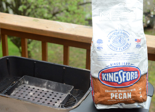 I used Kingsford Charcoal Briquetes with Pecan to grill these bacon gouda burgers on the PK Grill.