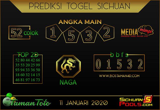 Prediksi Togel SICHUAN TAMAN TOTO 11 JANUARI 2020