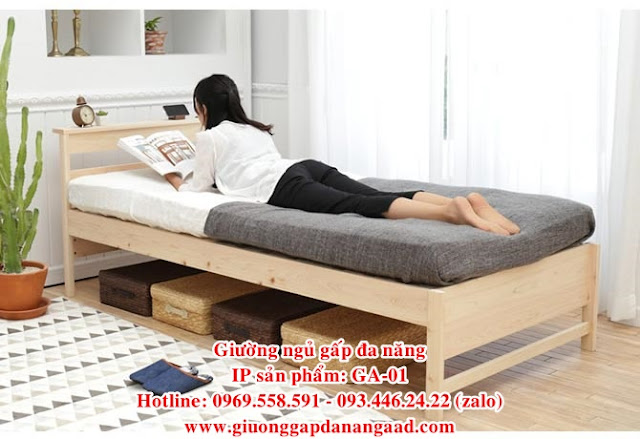 Giường ngủ gấp đa năng sang trọng cho phòng ngủ