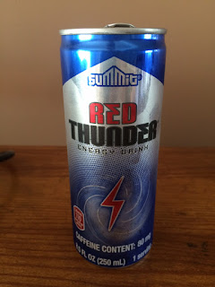 A single can of Summit Red Thunder Energy Drink, from Aldi