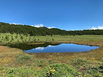 池の平湿原 鏡池