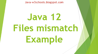 Java 12 API Files mismatch