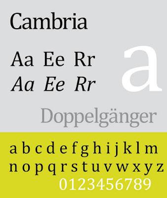 Cambria CV font