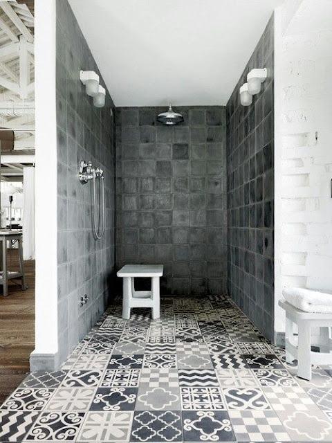 Grey Bathroom Tiles Design
