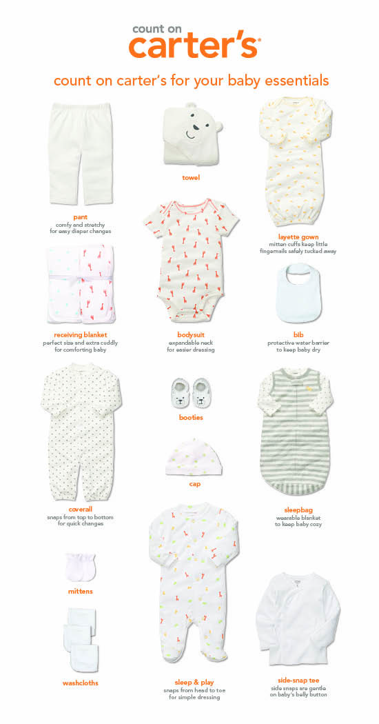Worthy Style: The essential baby girl clothes checklist from Carter's
