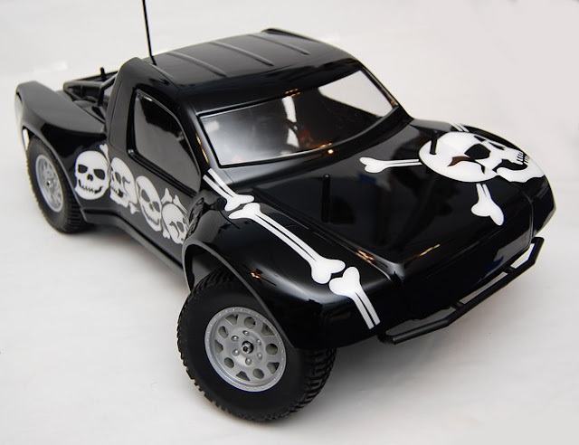 Team Associated SC10 black and white paint