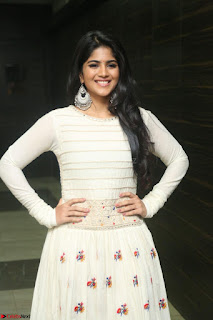 Megha Akash in beautiful White Anarkali Dress at Pre release function of Movie LIE ~ Celebrities Galleries