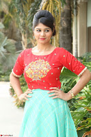 Lucky Shree Looks super cute in Bright Red Green Anarkali Dress ~  Exclusive 026.JPG