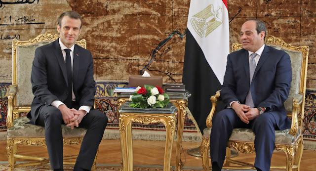رئيسا مصر وفرنسا يبحثان الوضع فى ليبيا هاتفيا