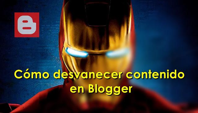 Cómo desvanecer contenido en Blogger - Charkleons.com