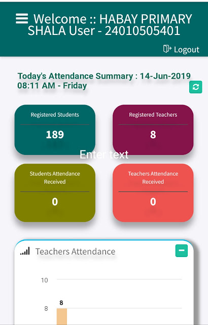 Online Attendance new System- A new portal has been made in the website of the SSA GUJARAT online presence.