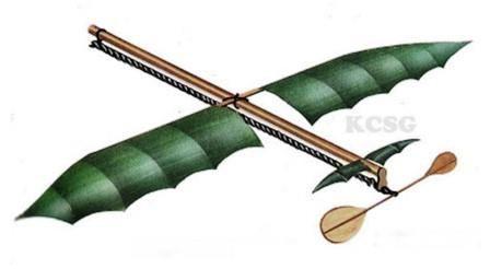 Pesawat tenaga karet buatan Alphonse Pénaud