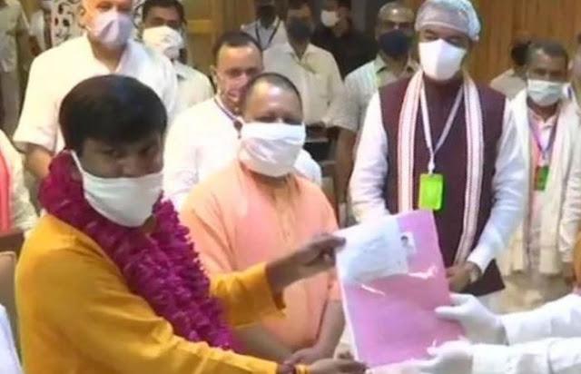यूपी राज्यसभा चुनाव: भाजपा उम्मीदवार जयप्रकाश निषाद ने भरा पर्चा, निर्विरोध चुना जाना तय