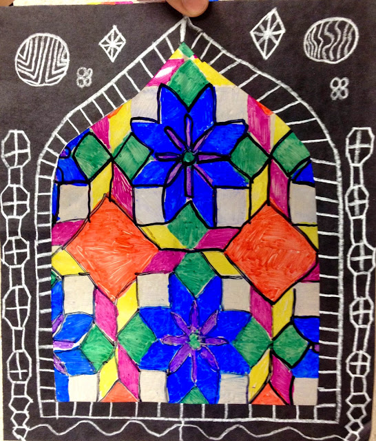 Islamic Stained Glass Art Project